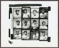 Topps stamps 1974 photo production contact sheet 11 Carew Oliva Blue