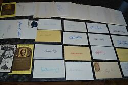 Amazing Vintage Baseball Signed Index And Postcard Collection 132 Autoand039s