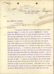 Dr. Roswell Park, First Cancer Researcher, Typed Letter Signed, 1904, Coa