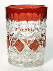 Eapg Thompson Glass Co No. 23 Loop And Block - Tumbler
