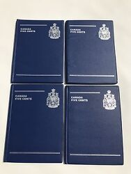 Lot Of 4 Canada Coin Collection Books 5 Cents Five 96 Spaces Coins Collecting 05