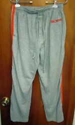 Cleveland Browns Lounge Pants Lrg 1980s Football Sweat-pants Embroidery Stripes