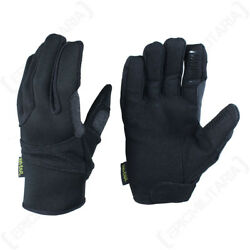 Kevlar Lined Black Gloves - Military Army Soldier Airsoft Non-slip All Sizes New