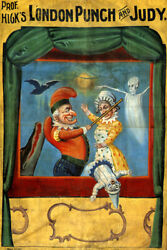 Puppet Theater London Punch And Judy Marionette Dolls Vintage Poster Repro
