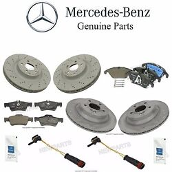 For Mercedes W212 Front And Rear Brake Pad Sets And Disc Rotors And Sensors Lubes Kit