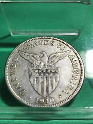 Us Philippines One Peso 1910-s Getting Scarce 179