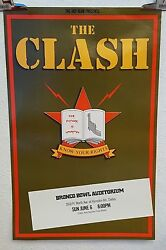 The Clash Know Your Rights Casbah Club Original Tour Poster 1982