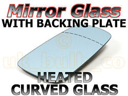New Driver Side Convex Mirror Glass + Heated Plate Bmw 5 Series E60 03