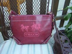 coach  purse looks new. 13' wide 10' tall with strap 23' tall