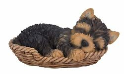 Yorkshire Terrier Yorkie Puppy Dog Sleeping Figurine Statue Pet Pal Collection