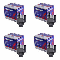 Set Of 4 Acdelco Ignition Coil Bs-c1208 For Chevrolet Gmc Cadillac 1999-2009