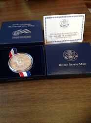 2009 Louis Braille Bicentennial Proof Silver Dollar With Boxes And Coa Brand New