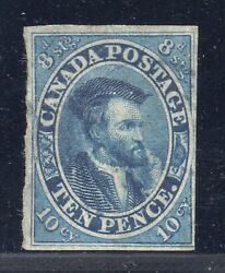 Canada Stamp 7 — 10p - W/ Cert - 1855 - Used