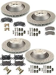 For Porsche 911 GT3 Front+Rear Rotor Brake Discs & Pads & Mounting Parts Genuine