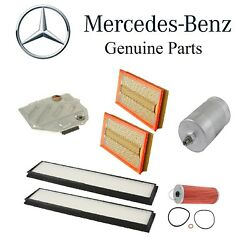 For Mercedes W124 500e E500 Trans Fuel Oil Air And Cabin Air Filters Kit Oes