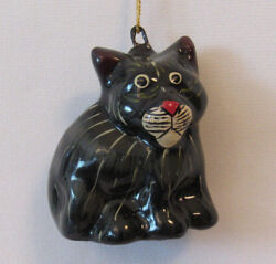 VINTAGE 1960s PUMA KITTEN  BLACK PANTHER KITTEN CHRISTMAS TREE ORNAMENT 2 12