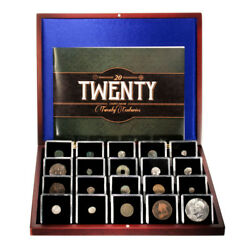 20 Coins From 20 Centuries 1st Through 20th Century Booklet And Wooden Box