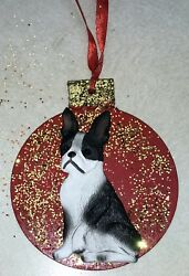 Boston Terrier 3D Dog Christmas Ornament Gift Holiday FREE PERSONALIZATION