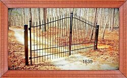Free Shipping* #1635 11 FT DS Inc Post Wrought Iron Style Steel Driveway Gate