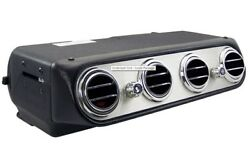 Under Dash Heat And Cool Inside Unit Four Round Vents Aluminum Faceplate 3 Speed