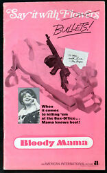 Bloody Mama 1970 Shelley Winters, Pat Hingle, Don Stroud Us Campaign Book