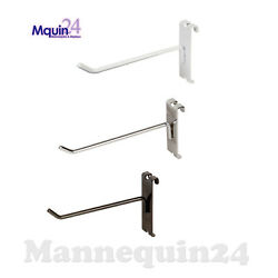 Gridwall Hooks For Grid Wall, 6 - Black White Or Chrome - Free Shipping