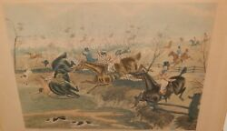 George Hunt The Fox Chase Large Color Engraving 2