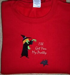 Cairn Terrier Wizard of Oz Ladies LS Red Tee Get You My Pretty