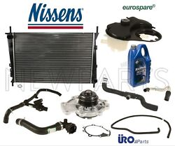 For X-type Radiator Coolant Hoses Thermostat Tank Water Pump Antifreeze Kit