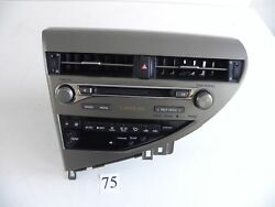 2013 LEXUS RX350 RADIO CD PLAYER TEMP AC CLIMATE CONTROL 86130-0E081 706 #75 A
