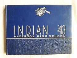 1943 Anderson High School Yearbook Anderson, Indiana  Indian