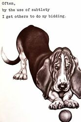 Boswell BASSET HOUND Subtlety Works on Others 1958 Vintage Dog Print Matted