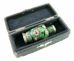 Rare Imperial Russian Enameled Late 19th C Perfume Bottle Marked Cloisonne