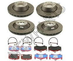 For Porsche 911 Set of Front & Rear Disc Brake Rotors & Pads w Sensors Genuine