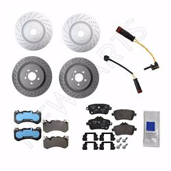 For Mercedes X166 C292 Front And Rear Disc Brake Rotors Pads Sensors Kit Genuine
