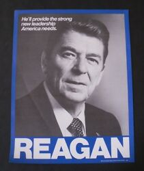Ronald Reagan Classic New Leadership Campaign Poster