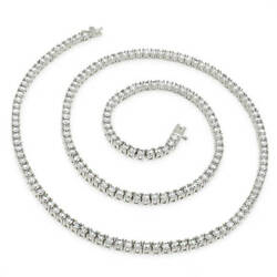 3mm Round Cut Cz Tennis Chain Necklace Anti-tarnish Solid 925 Sterling Silver