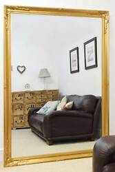 Extra Large Wall Mirror Gold Antique Vintage Full Length 6ft7x4ft7 201 X 140cm