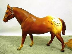 VINTAGE BREYER HORSE PONY BROWN APPALOOSA TRADITIONAL with SADDLE