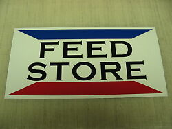 Feed Store Metal Sign Ranch Golf Course Texas Dairy Farm Show Cattle Cow Bull