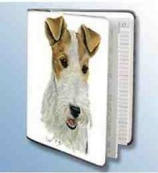 Retired WIREHAIR FOX TERRIER Softcover Address Book art by Robert May