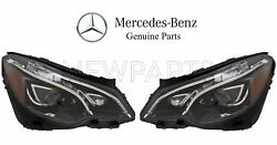 For Mercedes A207 C207 Pair Set Of 2 Front Dynamic LED Headlight Assemblies OES