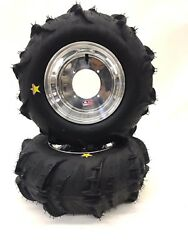 Dwt Polished Rear Wheels And Sand Dune Star Paddle Tires 26 Rzr 800 900 Xp S