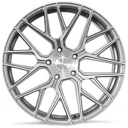 20 Rohana Rfx10 Brushed Titanium Concave Wheels For Chevy