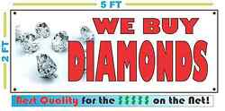 Full Color We Buy Diamonds Banner Sign New Best Quality For The Pawn Shop Bank