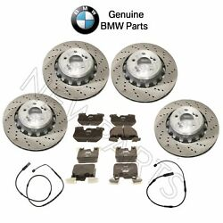 Kit Of Front And Rear Brake Rotors W/ Pads And Sensors Oes For Bmw F80 F82 F83 F87