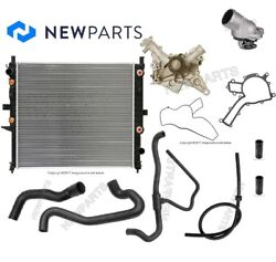 For Mb W163 Ml55 Amg Radiator Lower Upper Water Pump Hoses Thermostat 87 C Kit