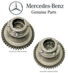 For Mercedes R172 W204 Pair Set Of Intake And Exhaust Camshaft Adjusters Genuine