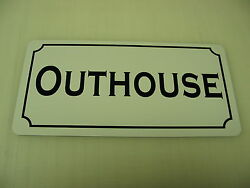 Outhouse Metal Sign Ranch Golf Course Texas Dairy Farm Chicken Cattle Cow Bull