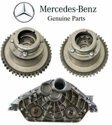 For Mercedes R172 W204 Pair Set Of 2 Camshaft Adjusters Andcylinder Head End Cover